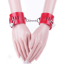 Buy Bondage Restraint Sex Products PU Leather Hand Cuffs Adult Games Slave Sex Fetish Bdsm Wrist Cuffs Flirting Sex Toys Couple