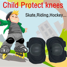 Hot 2Pcs Child Kids Cycling Roller Ski Skate Skating Knee Elbow Safety Protective Gear Pads Kneepad durable soft rubber sponge(China)