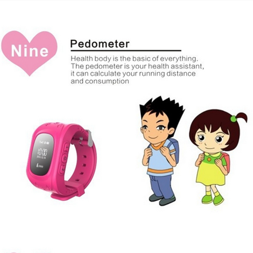 Hot Kids GPS Watch Phones Hand Watch Mobile Phone Price Q50 GPS Watch(China)