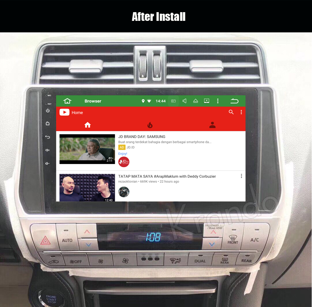 krando android car radio audio player for toyota prado 2018 multimedia navigation system (3)
