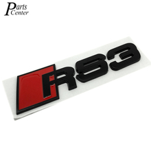 Car styling Accessories Metal Emblem For RS3 RS 3 Sticker Rear Tail Badge Logo For Audi Quattro RS3 Sportback Plus A3 S3 Q3 TT