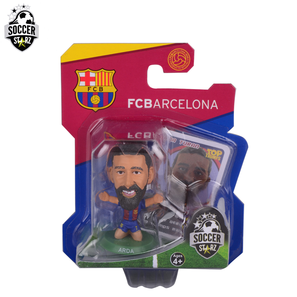 Soccerstarz Hand-painted 5cm Barcelona Arda Turan Home Kit(2017 version)Figures Fashion football star doll value for Collection(China (Mainland))