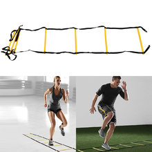 Agility Train Ladder 6-Rung Soccer Durable Outdoor Speed Reaction Football Soccer Fitness Feet Training Ladder