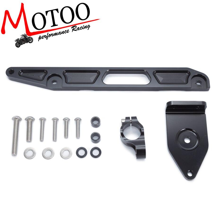 For YAMAHA XJR1300 2002-2015 Motorcycles Adjustable Steering Stabilize Damper Bracket Mount Support Kit Accessories<br>