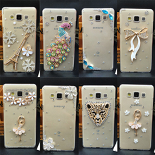 For LG X Style / X Power / X Cam Handmade Rhinestone Case Diamond Crystal peacock Cover Flower Phone cases