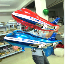 1pcs/lot 89*48 cm planes balloon helicopter inflatable toys child foil helium plane balloons party decoration big airliner(China)