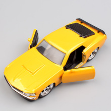 1/32 small Scale Fast and Furious F8 1970 ford mustang boss 429 muscle racing diecast metal cars modeling toys for children boys(China)