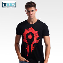 Buy TEE7 Men Game WOW Casual T-shirts Tribe Forever Emblem Size M-4XL Cotton Fashion Print Top Hip Hop Male Slim Fit Blouse Gift for $14.64 in AliExpress store