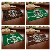 New doormat cartoon Starbucks Coffee series living room/bedroom carpet flannel anti-slip pad bath mats Super soft floor door mat