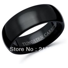 E&C JEWELRY Free Shipping! Wholesales Price! USA Hot Selling Shiny Black Tungsten Polish Wedding Ring Women&Men's Bridal Jewel