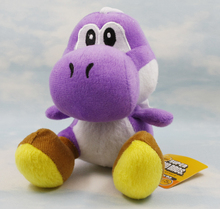 1pcs Super Mario Bros Plush 18cm Yoshi Plush Toys High Quality 9 Colors Sitting Yoshi Doll Soft Stuffed Toy Baby Toys for Gift