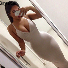 Summer women Spaghetti Strap bandage dress V neck blue red black beige nude party formal party summer bodycon sexy club HL(China)