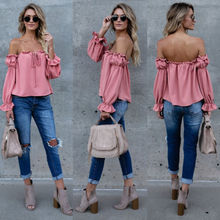 Buy Top Shoulder Casual Sleeves Tops Shirts Blouses Lady Clothes Summer New Fashion Women Clothing Ladies for $5.82 in AliExpress store
