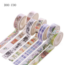 Kawaii Adhesive Tape Scrapbooking Sticker DIY Craft Planner Notebook Decor Sticky Washi Masking Tape Cute Stationery Papeleria