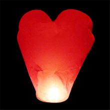 Heart shape 12pcs/lot Biodegradable flash sky lanterns wish lantern for luck wedding/party decoration free shipping