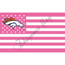 Denver Broncos Flag metal Grommets Pink USA STRIPE Indoor Outdoor Flag 3' x 5' Custom Flag(China)