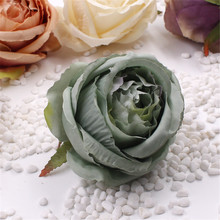 Artificial Rose Flowers 10pcs Cheap For Wedding Car Decorative wedding Rose Scrapbooking Craft simulation flower(China)