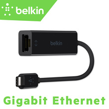 New Belkin USB-C to Gigabit Ethernet Adapter (USB Type-C to 100/1000Mbps RJ45 Network Card) for MacBook Pro with Package F2CU040(China)