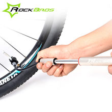Rockbros Road Bike MTB Alloy Mini Hand Portable Pump For Cycling Road Bicycle Tire Inflator Air Pump Ball Pump Bicycle Accessory