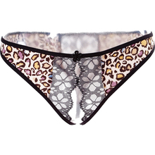 Buy Lovely Doll Sexy Panties Lace Leopard Print Transparent Open Crotch Mini G-string Thong Panties Women's Sexy Underwear Intimates