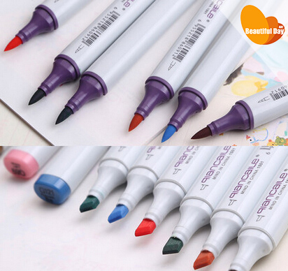 Qiancaile permanent Brush and Broad tip marker pen,you can choose colors<br>