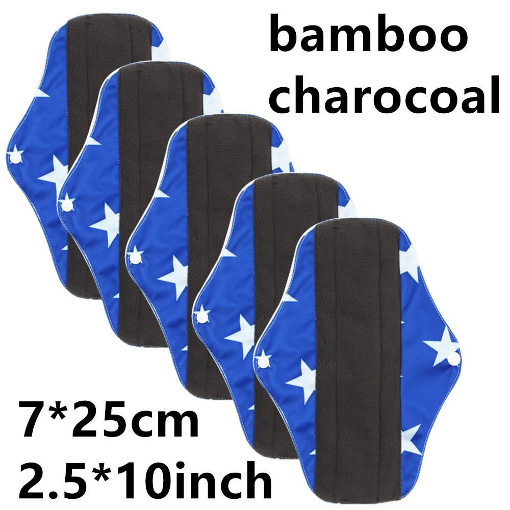New Reusable Bamboo Charocoal Washable Menstrual Pad Mama Sanitary Towel Pad Practical Feminine Hygiene Product 1pc Pretty 20
