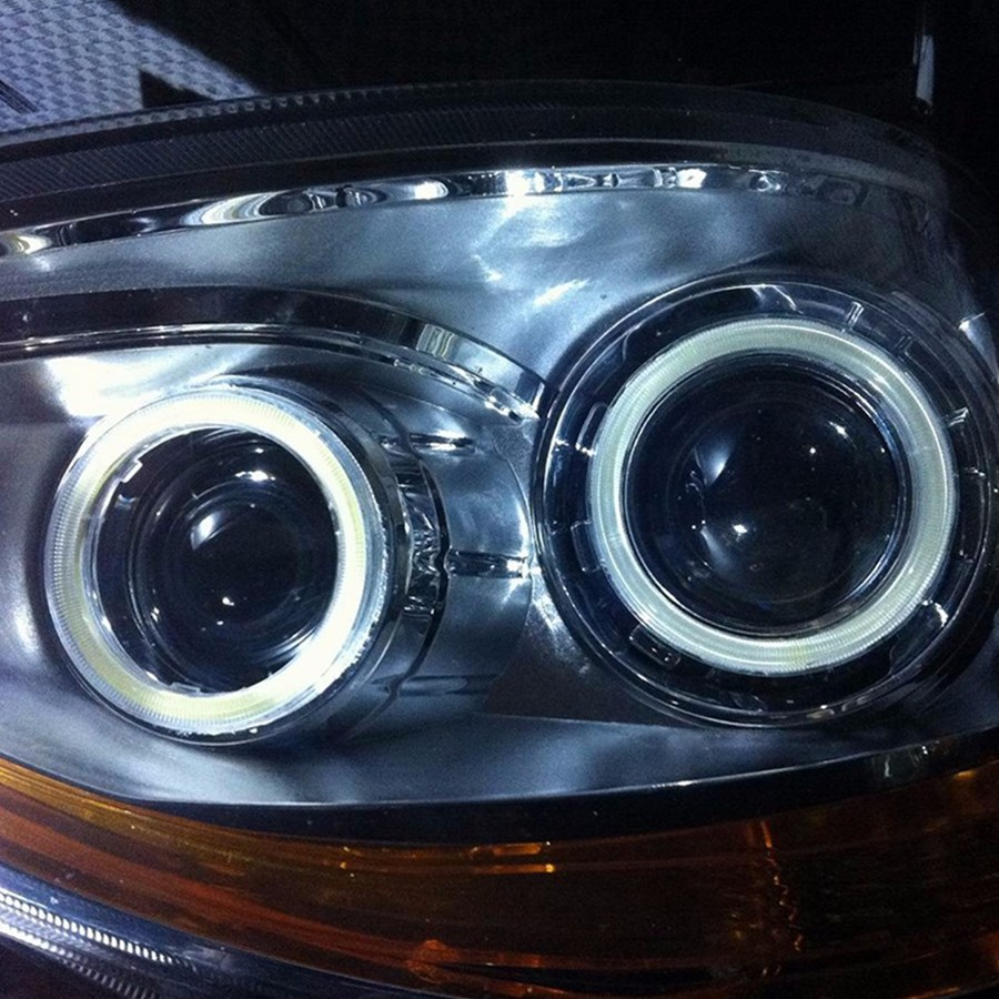 LED Angel Eyes COB 2PCS Auto Halo Ring 60MM 70MM 80MM 90MM 100MM 110MM 1MM Car Motorcycle With Lampshades 12V For BMW E60 E39 26
