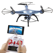 Newest Outdoor Quadcopter DM006 4CH 6-Axis WIFI FPV RC Helicopter drone top camera 5.0 MP A Key Return Headless MODE PK Syma x8w