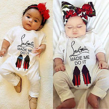Cute Newborn Baby Girls Clothes Long Sleeves  Romper One Pieces Sunsuit Set 0-24M