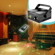 RG 40 Patterns Red Green Mini Laser Projector Light and Blue LED with Remote laser show system auto Sound/ Music Active DJ Disco