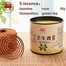 40pcs/box coil Incense Rose Jasmine Osmanthus Lily green tea incense indoor Smoke incense sticks incense burner free shipping(China)