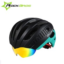 ROCKBROS 32 Air Vents EPS+PC Cycling Helmet 3 Lenses Ultralight Bicycle Head Safety Protector MTB Road Bike Cycling Equipment