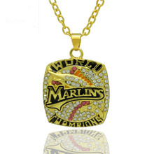 Newly Punk Style Sport Jewelry 2003 Florida Marlin Championship Pendants Necklace For Women & Men Wedding Necklaces(China)