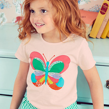 Baby Girls Clothes 2018 Brand Baby T-shirt Kids Clothing Animal Pattern Girls Summer Tops Tees 100% Cotton Children T shirts(China)