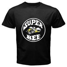 New Super Bee Logo Vintage Dodge Classic Muscle Car Black T-Shirt Size S to 2XL Short Sleeves Cotton T-Shirt Fashion