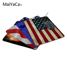 MaiYaCa Unique Design Usa Flag New Anti-Slip PC Laptop Mouse Mat For Optal Trackball Mouse Not Lockedge MousePad