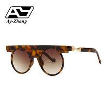3cb5784259b Ay-zhang Round Sunglasses Women Brand Designer Future Style Eyewear 2019  New Arrival Green Vintage