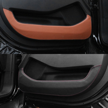 Door protector side edge protection anti-kick leather cover for NEW Ford Explorer 2016 2017
