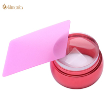 Nail Art Stamping Scraper Set 3.5CM Clear Jelly Transparent Nail Design Stamper Red Metal Chess Nail Art Stamping Tools Kit