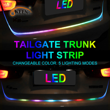 OKEEN 47.6inch car-styling turn signal led trunk strip Tailgate Light Colourful flash LED Light Bar Reverse strips for car trunk(China)
