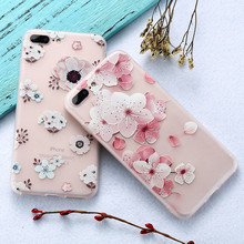 KISSCASE 3D Art Print Embossed Case For iPhone 6 7 8 Luxury Flower Relief Soft TPU Back Cover Case For iPhone 6 7 6S Plus Cases(China)