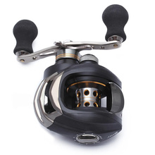 New Sale Top Quality Durable Baitcasting Stainless Plastic Fishing Reel Ball Bearing Hand 11+1 BB Black Right Handle