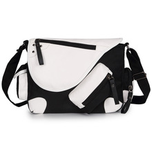 DIY your Own Canvas Casual Zipper Boys Girls Shoulder Bag Crossbody Bags Schoolbags Messenger Bag Gift(China)