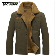 TACVASEN Military Tactical Jacket Men Winter Thermal Cotton Jacket Coat Army Pilot Jackets Men's Air Force Parkas TD-QZQQ-006(China)