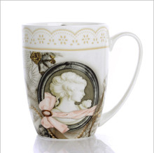 European Style Bone China Coffee Mug, High Quality Creative Ceramic Office Mark Cup, Chinese Porcelains
