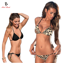 Ariel Sarah Brand Plus Size Swimwear Black Bikini 2017 Bathing Suit Women Swimsuit Solid Bikini Set Brazilian Bikini Q168