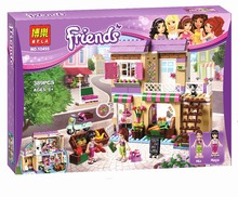 New BELA Friend Series City Food Market Building Blocks Friends Bricks Gift Toys Compatible With legoe Friends 41108