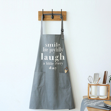 Custom made HOME series thick canvas aprons letters printed Nordic style paragraph 70cm * 80cm free shipping(China)
