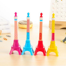 Kawaii Tower Design Ballpoint Pen Creative Student Stationery School Office Supply Pens Material Escolar Papeleria Promotion(China)