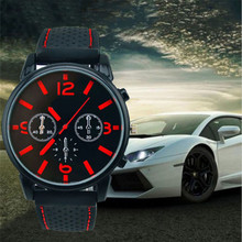 BLUELANS New Chronograph 24 Hours Function Men Sport Watches Silicone Red Waterproof Luxury Watch Men Top Brand Military Watches